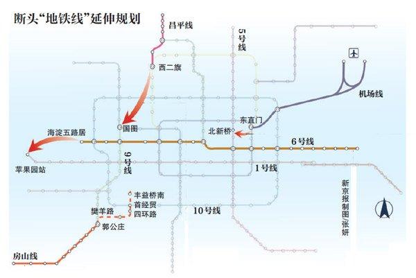 房山城铁南延规划图_房山线延长线规划图