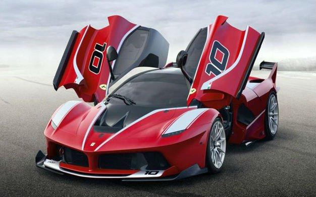 法拉利表示,得益于这些组件,整车在不同的速度状态下的下压力高清图片