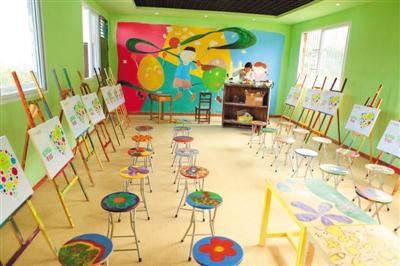 zespri佳沛为永富小学援建美术教室,将奇异果运输栈板改造为环保画架.图片