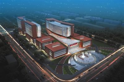 朝阳医院东院区规划设计图.北京市发改委供图